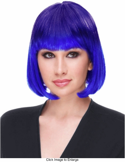 Ombre Graduated Color Blue Wig  (Blue Moon)
