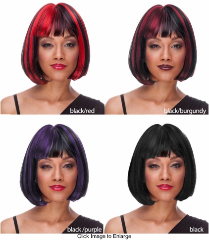 Deluxe Bob Wig in Black and Black Blend Colors