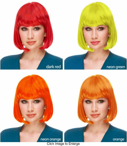 Deluxe Bob Wig in Fantasy Colors