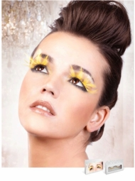 Long Yellow Feather Lashes for $7.00