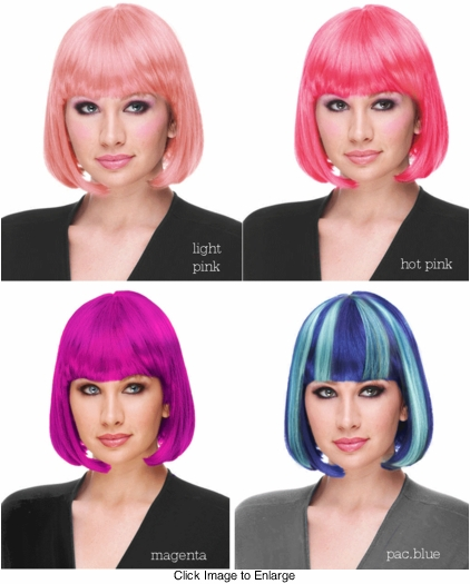 Deluxe Bob Wig in Cool Colors