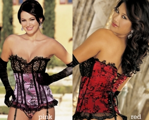 Eve Satin and Lace Corset