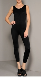 Opaque Seamless Bodystocking Unitard with Scoop Neck
