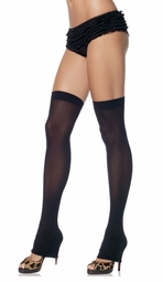 Opaque Thigh High Leg Warmers