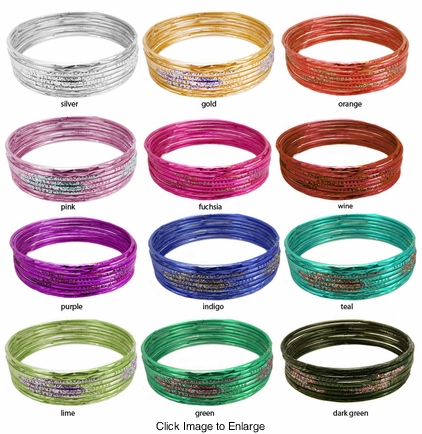 8 Stackable Bangle Bracelets