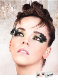 Glamour False Lashes with Feather Wisps