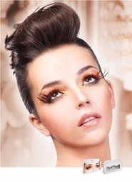 Black and Red Wispy Feather Lashes
