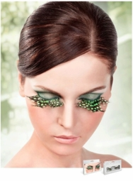 False Eyelashes -Green Quail Feather Lashes