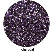 Charcoal Black Color of Luxe Glitter Powder for Eye Liner / Eye Makeup