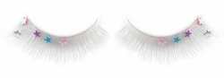 False Eyelashes -White Fake Lashes w/ Stars on Sale - Buy 1 Get 1 Free
