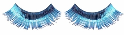 Full Metallic False Eyelashes in Blue