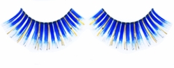 Dark Blue False Lashes with Gold and Silver