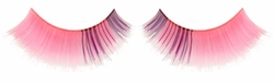 Pink False Eyelashes with Purple Inside Corner