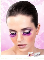 Long Purple False Eyelashes