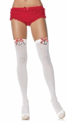 Sailor Opaque Thigh High Stockings with Bow and Anchor