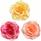 "4"" Flower Hair Clips in Silk and Chiffon (available in 36 colors)"