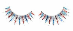 Red and Blue Glitter Lashes on Sale Now - Buy 1 Get 1 Free