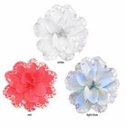 "4"" Bead and Sequin Embellished Flower Hair Clip (30 colors available)"