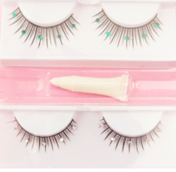 Set of Two Pairs of Fake Lashes with Crystals