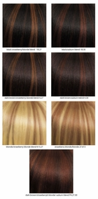 Long 100% Human Hair Wig with Middle Part