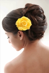 Country  Rose Hair Clip