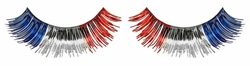 American Flag Red, Silver And Blue Metallic False Eyelashes
