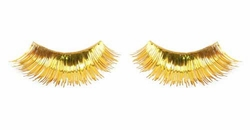 Gold Fake Lashes