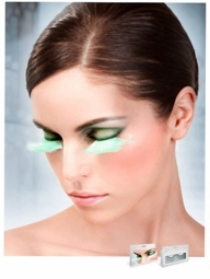 Mint Green Feather Lashes
