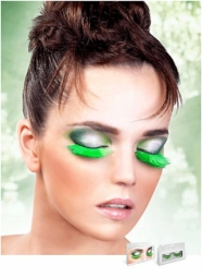 Green Feather Lashes
