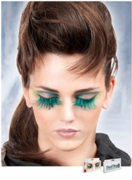 Green Feather Fake Eyelashes