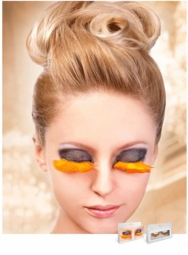 Orange Feather Lashes