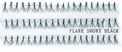 Individual Flare Lash Strips in Black Shorter Length