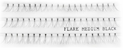 Individual Flare Lash Strips in Black Medium Length
