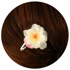 "2"" Cherry Blossom Flower Snap Hair Clip"