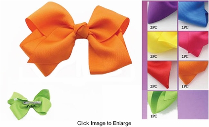 "4.5"" Bow Ribbon Hair Clip"