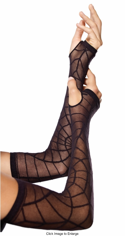 Sheer Spiderweb Arm Warmers