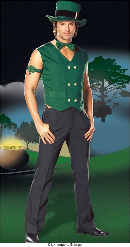 5-Piece Leprechaun Costumes for Men
