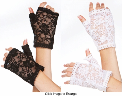 Flower Lace Fingerless Gloves