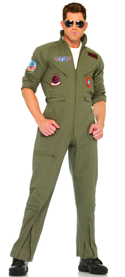 Top Gun Men's Flight Suit with Aviator Sunglasses