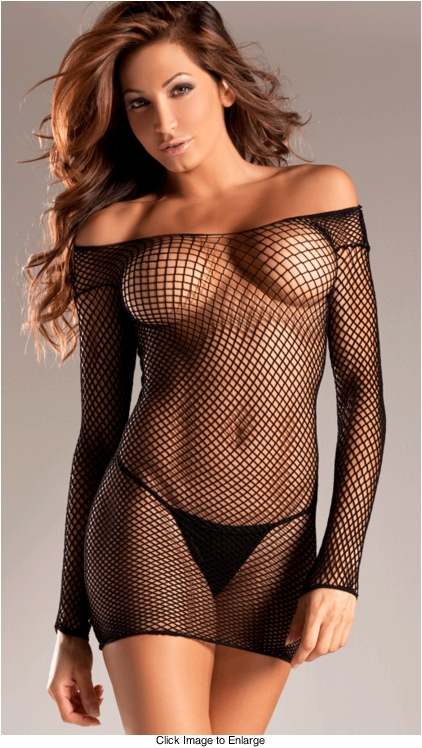 Industrial Net Fishnet Dress in Regular and Plus Size (available in more colors)