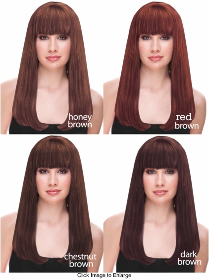 Brilliant Brown Shades of Deluxe Long Kelly Wig