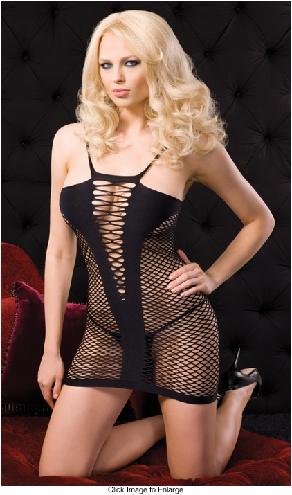 Diamond Net Fishnet Mini Dress