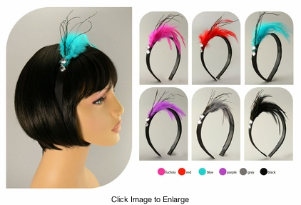 Peacock Feather Fascinator Headband