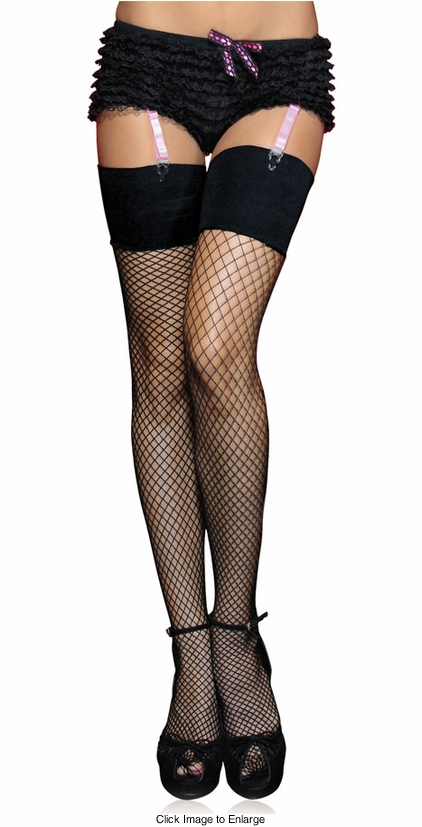 Industrial Net Stockings with Wide Elastic Top