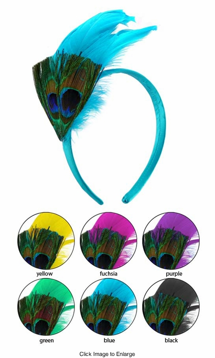 Peacock Feather Hair Band
