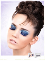 Medium Length Blue and Black Lashes for $6.00