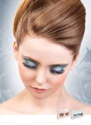 Textured Blue and Black Lashes for $6.00