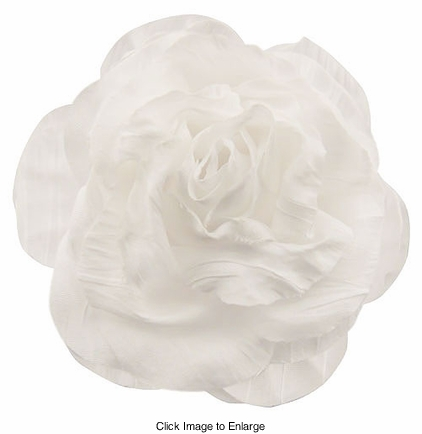 "3"" Crinkle Rose Flower Hair Clips"