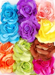 "4"" Bridesmaid Flower Hair Clip (available in 8 colors)"