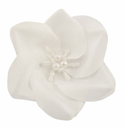 "2"" Ombre Color Flower Hair Clip with Pearl and Bead Center"